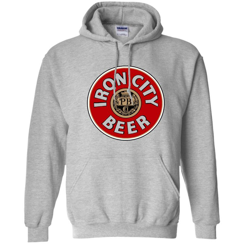 Iron City Beer logo red t shirt-RT Hoodie-mt