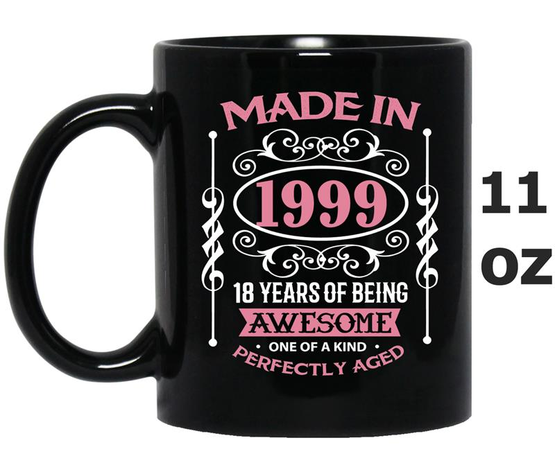 18th Birthday Gift Made In 1999 - 18 Years Old-Mug OZ