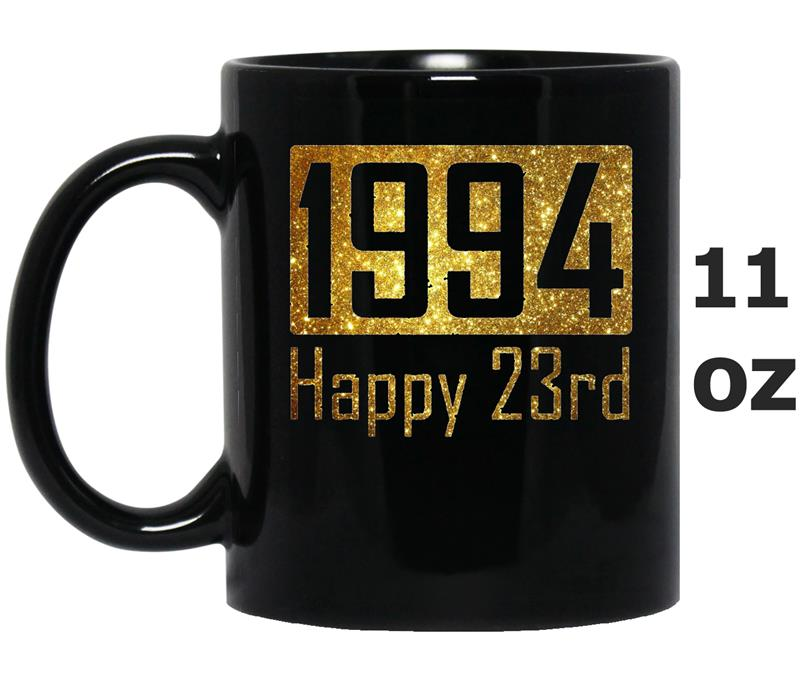 1994 Happy 23rd Birthday Gift - gold glitter style-Mug OZ