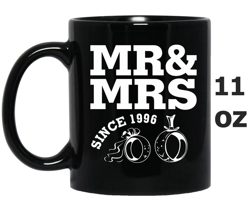 21st Wedding Anniversary Gift - Mr Mrs Since 1996 -TD-Mug OZ