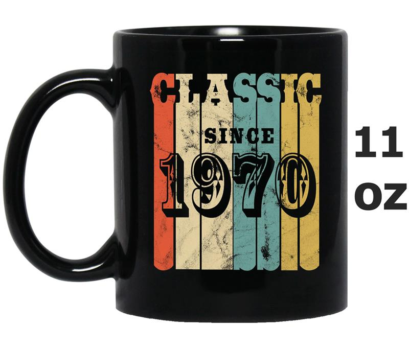 48th Birthday  Classic 1970 Vintage 48 yrs old Bday-ah my  one gift-Mug OZ