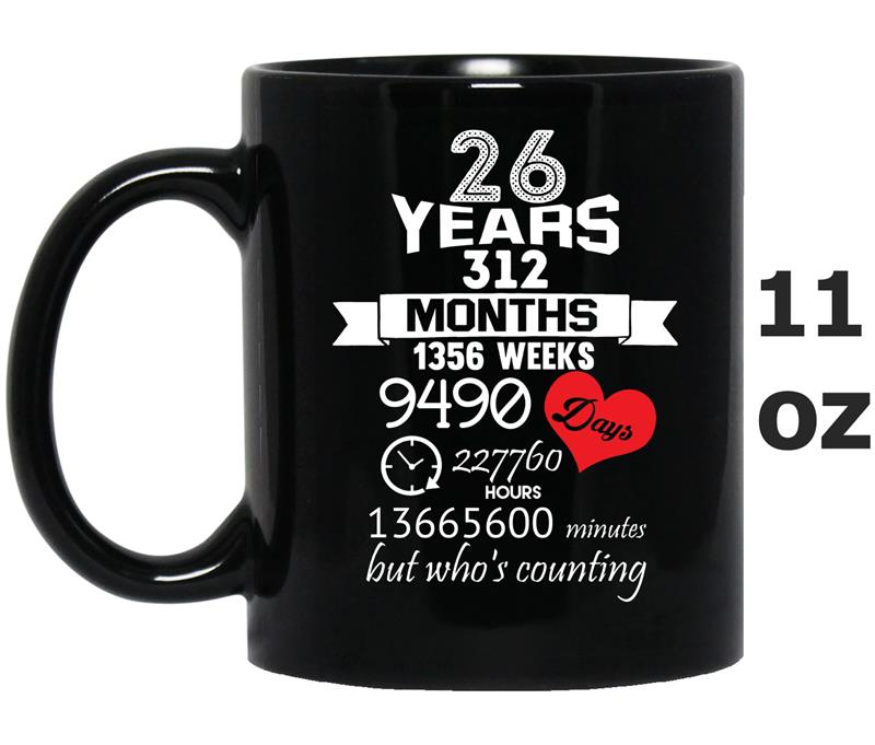Anniversary Gift 26th - 26 years Wedding Marriage ideas-TD-Mug OZ
