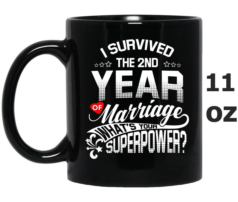 Anniversary Gift 2nd 2 years Wedding Marriage -TD-Mug OZ