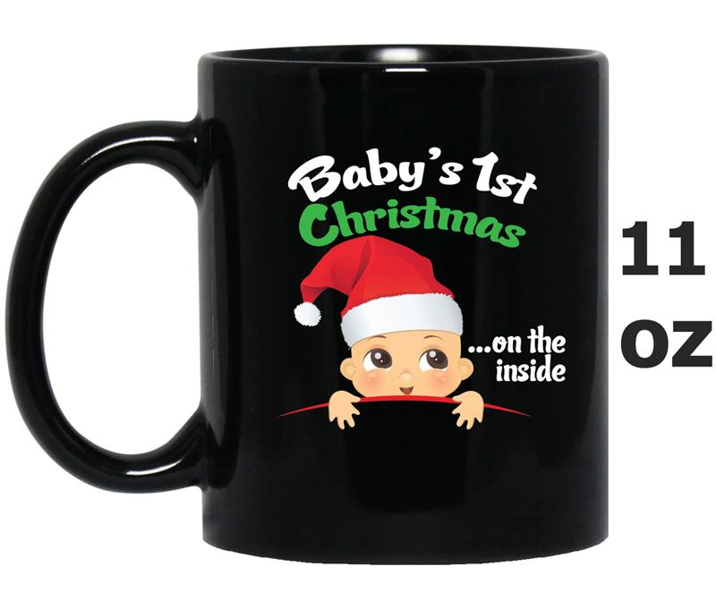 Baby_s 1st Christmas On The Inside Pregnant Maternity -Art-Mug OZ