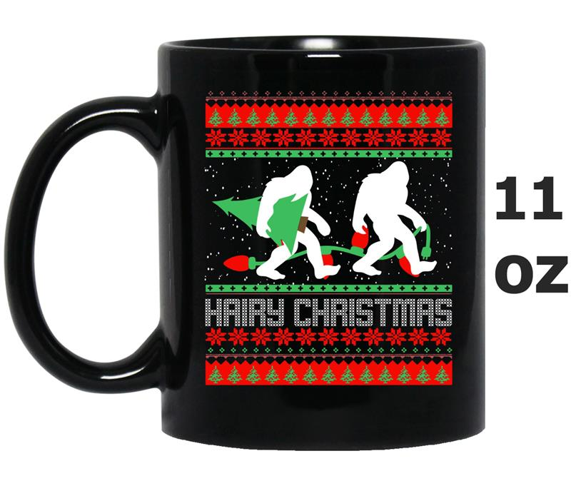 Bigfoot Hairy Christmas Tree  Holiday Sasquatch Gift Men-Mug OZ