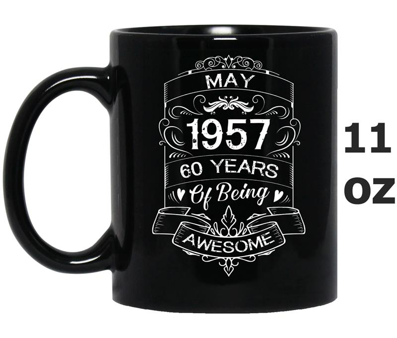 Born In May 1957 Age 60th May Birthday  Vintage-TH-Mug OZ