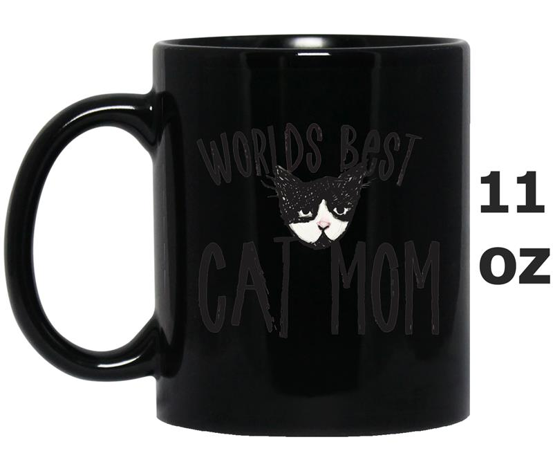 Worlds best Cat Mom  cat mothers day tee cat lovers-Art-Mug OZ