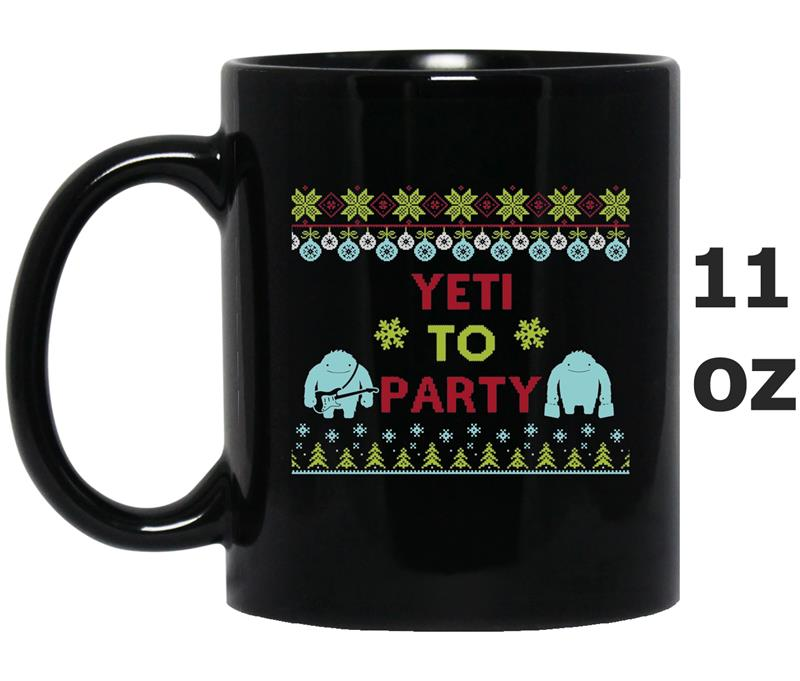 Yeti To Party Ugly Christmas Sweater Style Office Party-FL-Mug OZ