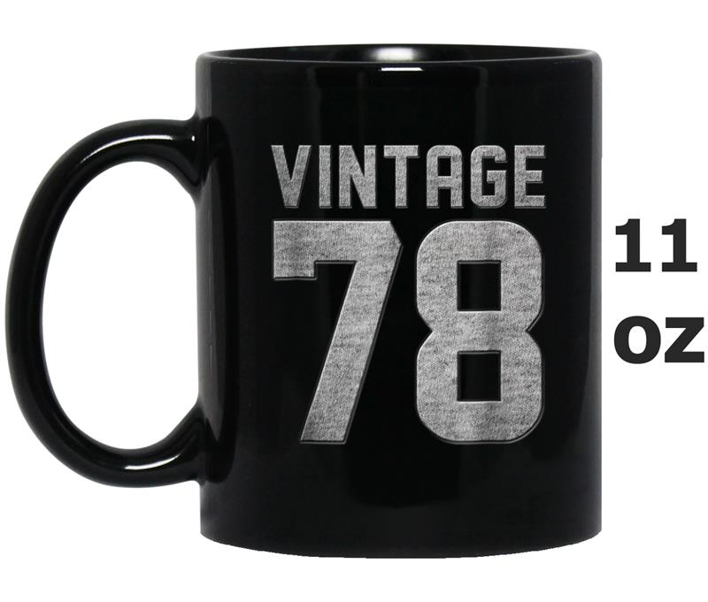 Vintage 1978  40 Years Old 40th Birthday Gift Mug OZ
