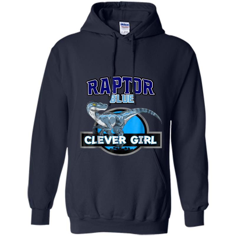 Clever Girl Blue: BLUE RAPTORS JURASSIC THE LOST WORLD CLEVER GIRL Hoodie-mt