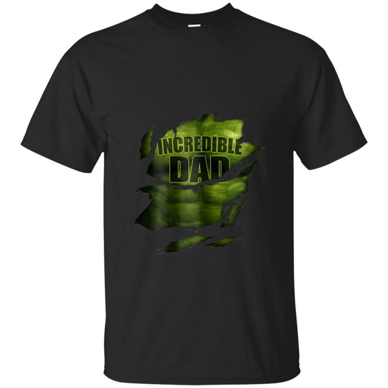 Incredible Dad  Superhero  Unique Fathers Day T-shirt-mt