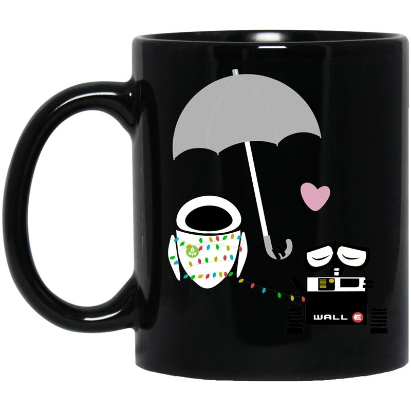 Walle and eve under umbrella mug mugozstyle - Walle and eve mugs ...