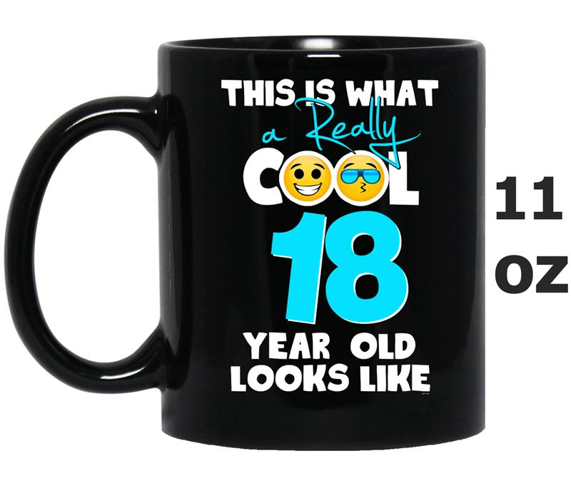 Emoji 18th Birthday Gifts For 18 Year Old Boys MenVaci Mug Mugozstyle