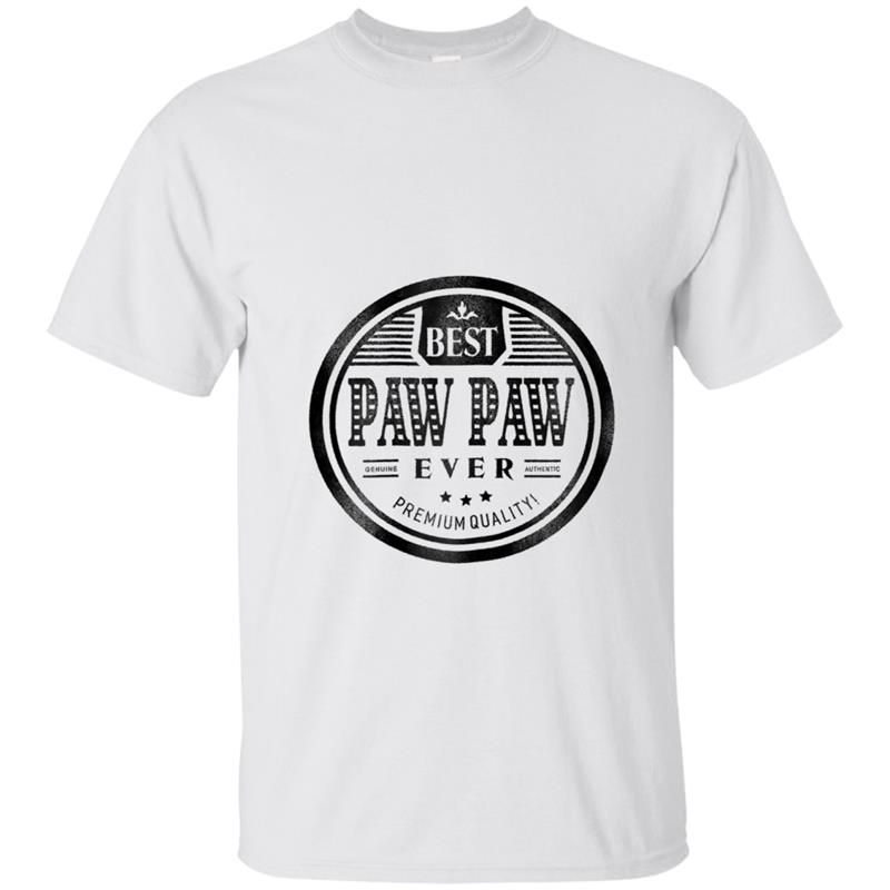 Family Father's Day Best Paw Paw Ever Grandfather T-shirt ...