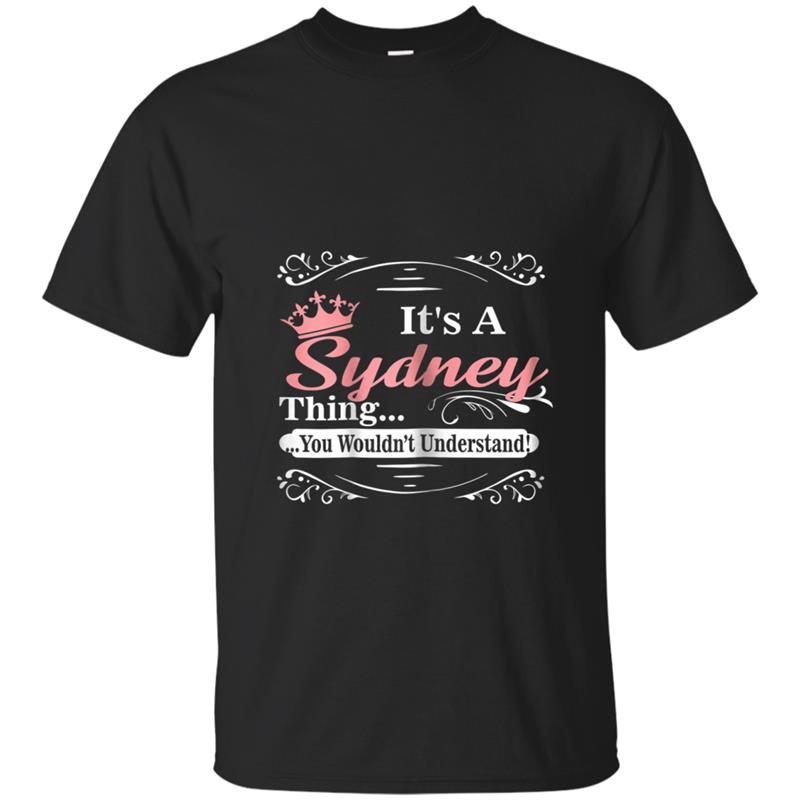 First Name Sydney Personalized Birthday Gift T-shirt-mt