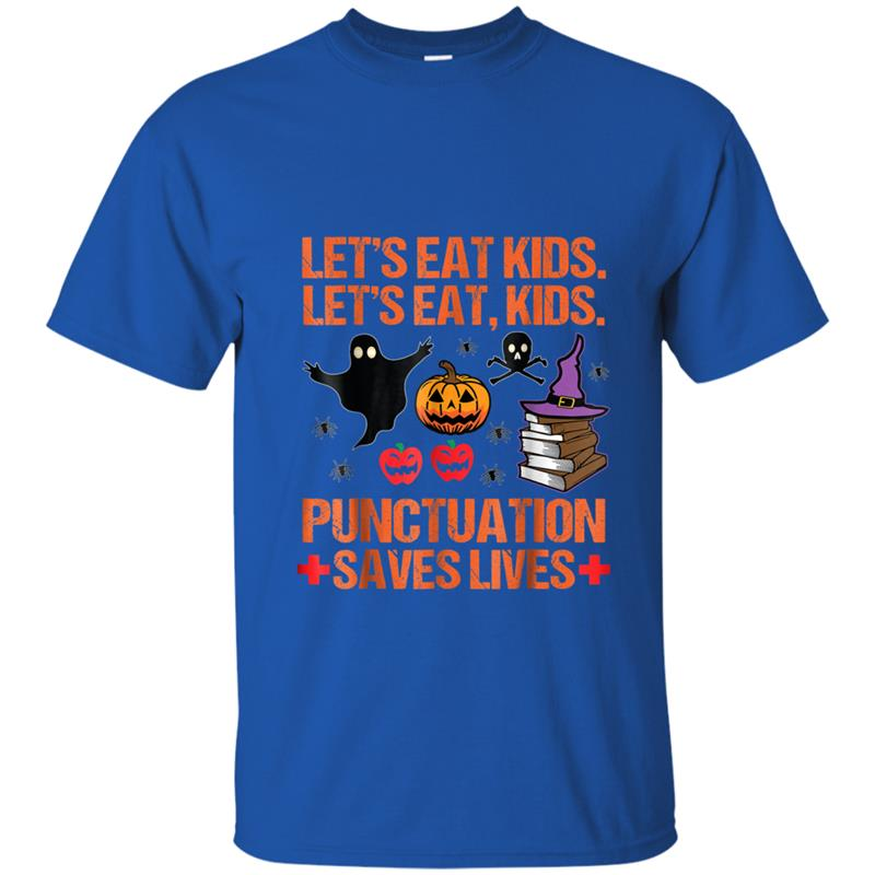 Halloween Let's Eat Kids Punctuation Saves Lives Funny T ...