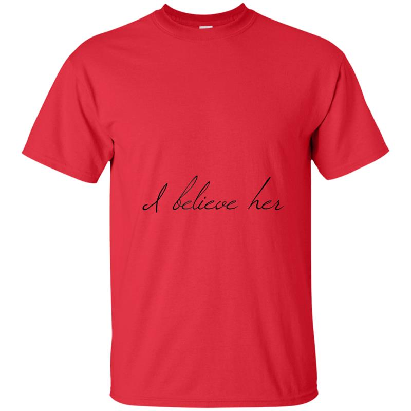 d2437626 I believe her to support women stop sexual harassment T-shirt-mt ...